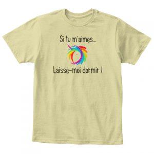 T-shirt licorne enfant - Si tu m'aimes laisse-moi dormir