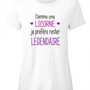 T-shirt - Licorne je suis légendaire
