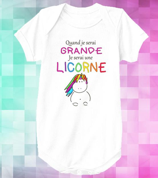 Body licorne – Quand je serai grande