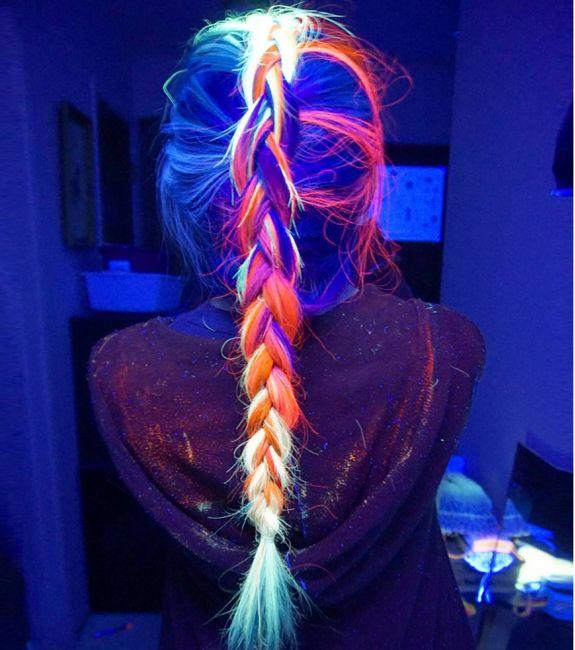 Coloration pour cheveux fluorescente -Cosmetique Licorne