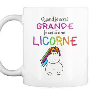 Mug Licorne - Quand je serai grande
