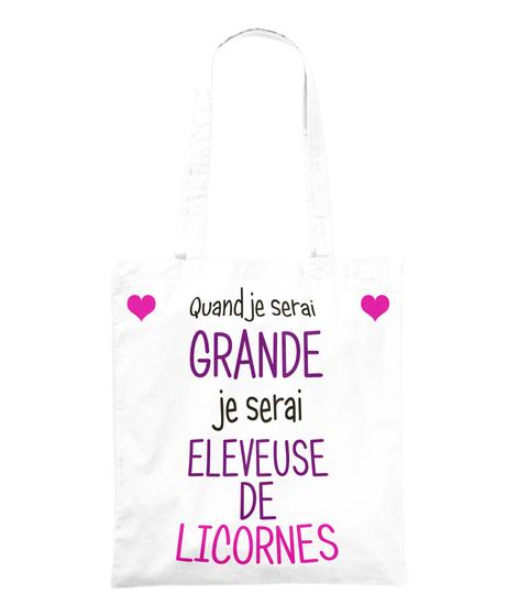 sac licorne Quand je serai grande je serai éleveuse de licornes !