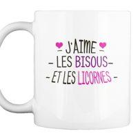 tasse - Bisous et licornes