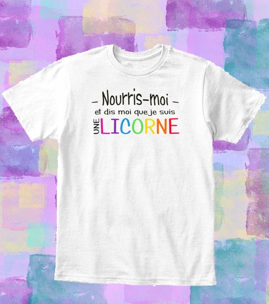 T-shirt licorne enfant – Nourris-moi et dis-moi que je suis une licorne