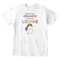 T-shirt licorne enfant - Quand je serai grande