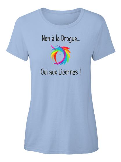 T-shirt - Non à la drogue oui aux licornes