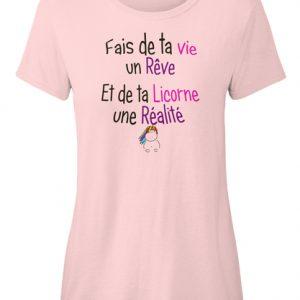 T-shirt - Rêve et Réalité Licorne