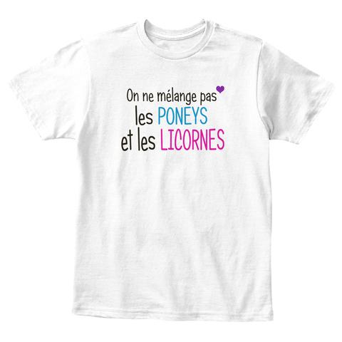 y shirt enfant tshirt On ne mélange pas les poneys et les Licornes
